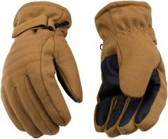 HydroFlector™ Lined Waterproof Brown Duck Ski Glove with Pull-Strap