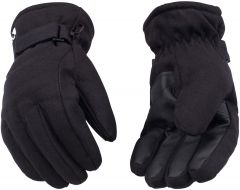 HydroFlector™ Lined Waterproof Black Duck Ski Glove with Pull-Strap