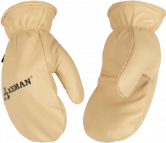 Axeman® Lined Grain Cowhide Mitt Edit Actions