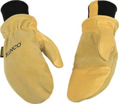 Lined Heavy Duty Grain & Suede Pigskin Mitt