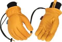 HydroFlector™ Wanoga™ Lined Water-Resistant Premium Grain Buffalo Ski Glove with Knit Wrist