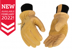 [NEW] Women's Lined Heavy Duty Premium Grain & Suede Pigskin Driver with Knit Wrist