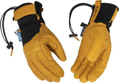 HydroFlector™ Skyliner™ Lined Water-Resistant Premium Grain Buffalo Ski Glove with Pull-Strap