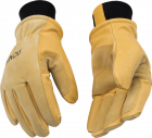 Lined Heavy Duty Premium Grain & Suede Pigskin Driver with Knit Wrist